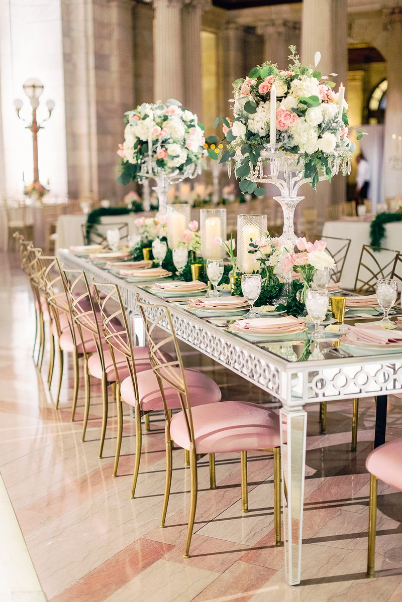 Luxe Glam Wedding Reception Table