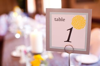 wedding-table-number-with-yellow-billy-ball-design