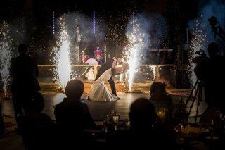 first-dance-fireworks-indian-bride-and-catholic-groom-interfaith-wedding-ceremonies