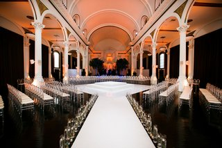 vibiana-wedding-ceremony-white-stage-floating-candles-in-the-round-seating-altar-white-columns