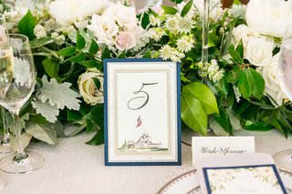 united-states-marine-corps-war-memorial-illustration-drawing-on-wedding-reception-table-number