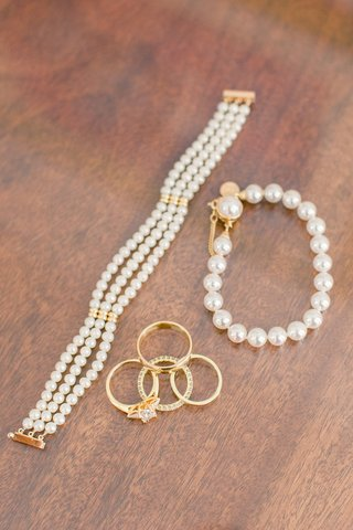 three-strand-pearl-bracelet-gold-hardware-gold-jewelry-rings-pearls