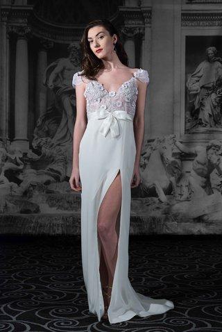 sarah-jassir-la-dolce-vita-2016-backless-cap-sleeve-wedding-dress-with-silk-crepe-skirt-with-slit