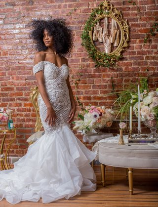 bride-in-pantora-bridal-off-the-shoulder-mermaid-dress-black-bridal-model-with-natural-hair