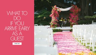what-to-do-arrive-early-wedding-guest-ceremony-before-other-people-activities-couple-wedding-website