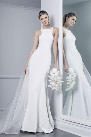 romona-keveza-collection-bridal-fall-2018-high-neck-wedding-dress-silk-crepe