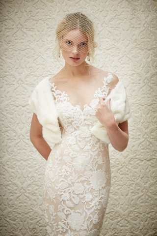 lace-illusion-neckline-watters-short-wedding-dress