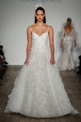anne-barge-fall-2019-wedding-dress-paxton-spaghetti-strap-ball-gown-chevron-texture-skirt-drop-waist