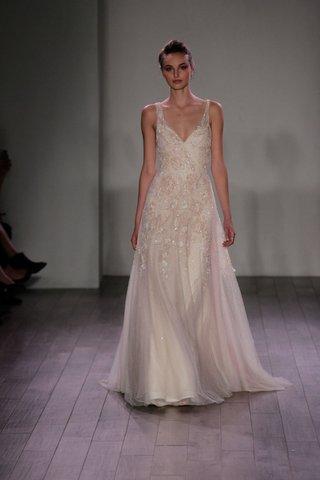 jim-hjelm-2016-v-neck-embellished-and-flower-applique-wedding-dress