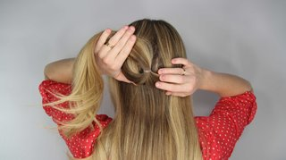 how-to-diy-wedding-hairstyle-topsy-tail-faux-braid-step-number-two