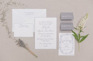 laura-hooper-designed-this-grey-and-white-invitation-suite-for-a-couple-who-held-their-wedding-on-a