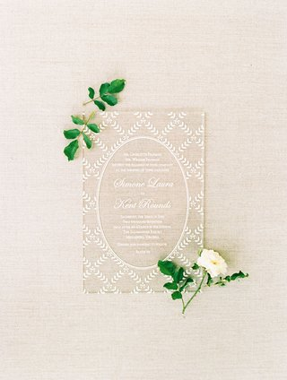 lucite-acrylic-clear-translucent-wedding-invitation-with-white-script-and-lace-design-from-dress