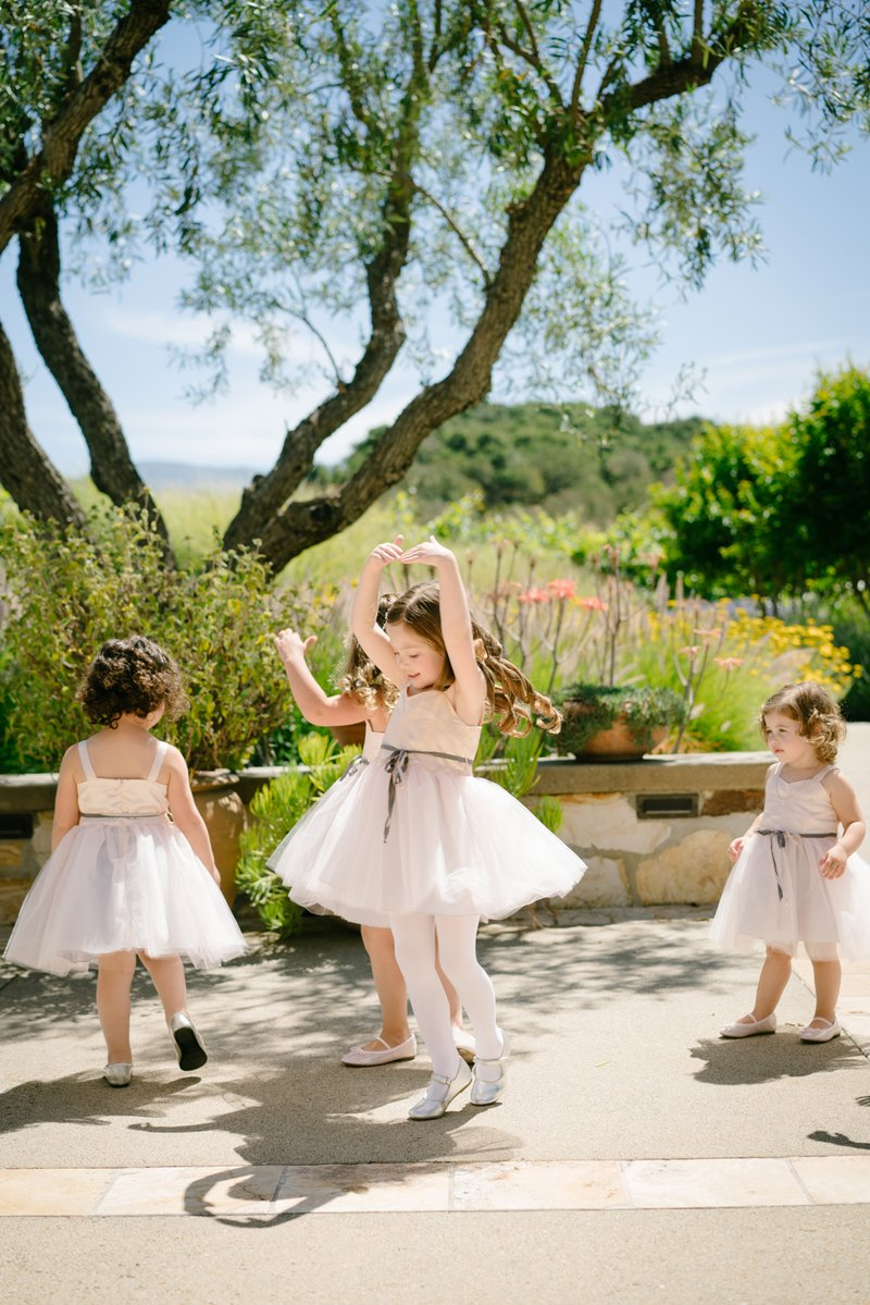 Twirling and Dancing Flower Girls