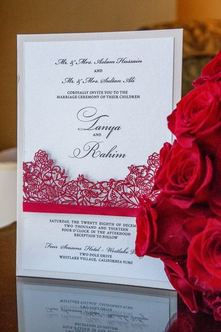 laser-cut-lace-wedding-invite-with-shimmer-paper