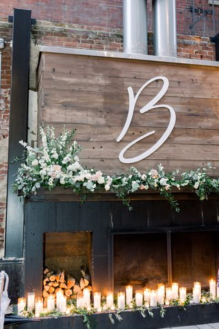 large-cutout-monogram-on-wood-florals-candles