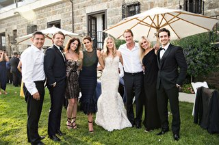 bride-and-groom-with-cindy-crawford-and-rande-gerber-at-wedding-casamigos-tequila-cocktail-hour
