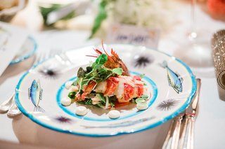 lobster-and-arugula-salad-for-first-course-at-wedding-reception