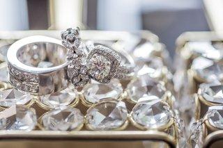 double-shank-halo-engagement-ring-diamond-mens-wedding-band-diamond-floral-womens-wedding-ring