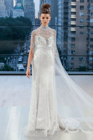 amsterdam-ines-di-santo-fall-2018-wedding-dress-long-cape-with-silver-embellishments-high-neck