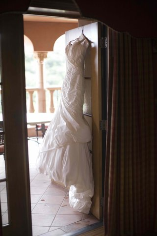 ines-di-santo-wedding-dress-on-hanger