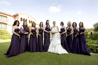 bride-in-trumpet-gown-with-girls-at-grand-del-mar
