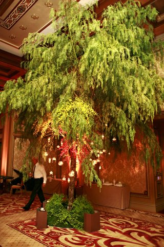 candles-hanging-from-tree-in-ballroom