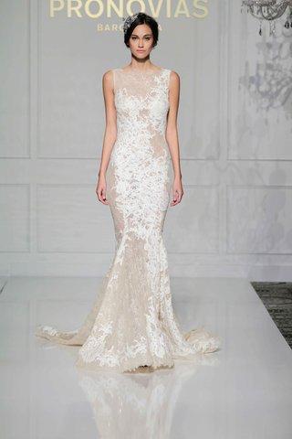 pronovias-2016-sheer-lace-sleeveless-mermaid-wedding-dress