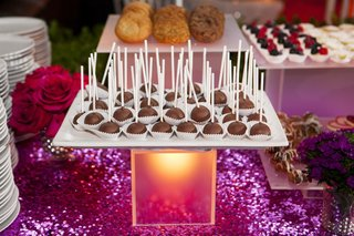 purple-sequin-dessert-table-with-tray-of-chocolate-cake-pops