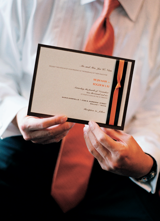 wedding-invitation-with-brown-and-orange-ribbon