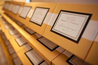 wedding-favors-of-personalized-godiva-chocolate-boxes