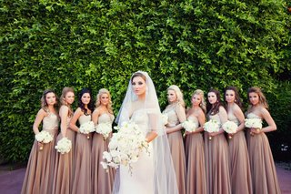 bride-in-off-the-shoulder-gown-with-bridesmaids