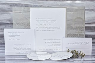 wedding-invitation-suite-elizabeth-grace-modern-design-silver-white-stationery-lettering-initials