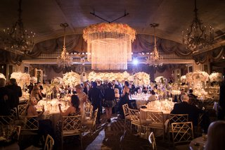 wedding-reception-at-the-pierre-in-new-york-flower-chandelier-chandeliers-guests-at-tables-reception