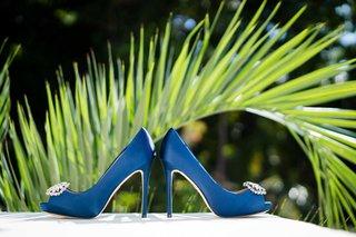 peep-toe-wedding-shoes-badgley-mischka-bridal-heels-rhinestone-bright-blue-color-something-blue