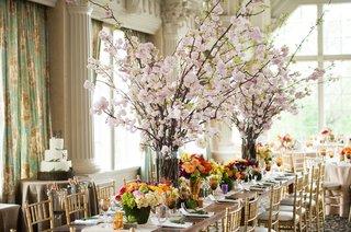 cherry-blossom-centerpieces-rustic-wedding-gay-wedding-seasonal-arrangemnets