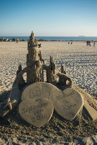 custom-sandcastle-newlyweds-beach-wedding-san-diego-hotel-del-coronado-special-unique-detail