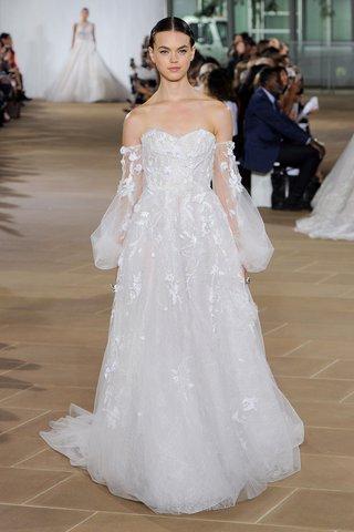 ines-di-santo-fall-2019-bridal-collection-wedding-dress-melia-strapless-corset-poet-sleeves