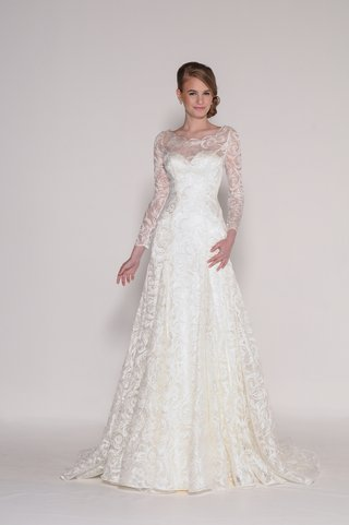 eugenia-couture-white-a-line-wedding-dress-with-lace-and-sheer-long-sleeves