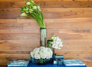 detriot-lions-quarterback-matthew-stafford-rehearsal-dinner-decor-blue-green-escort-cards-plants