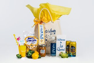 welcome-bag-for-destination-wedding-drinks-corn-chile-corn-chips-and-love-story-tote-bag-yellow