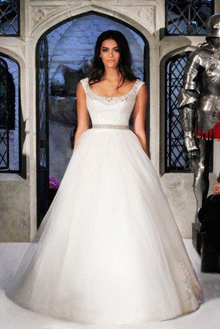 oleg-cassini-spring-2018-wedding-dress-scoop-neck-tulle-ball-gown-silver-beading-neck-and-waist
