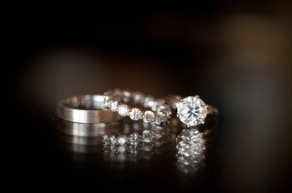 mens-polished-wedding-ring-with-diamond-engagement-ring-and-wedding-band