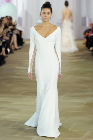madeline-silk-crepe-trumpet-soft-v-neck-long-sleeves-lace-inset-detail-ines-di-santo-wedding-dress
