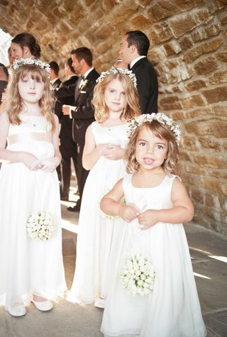 cute-adorable-flower-girls-in-white-dresses-with-flower-garlands-and-white-flower-balls-as-bouquets