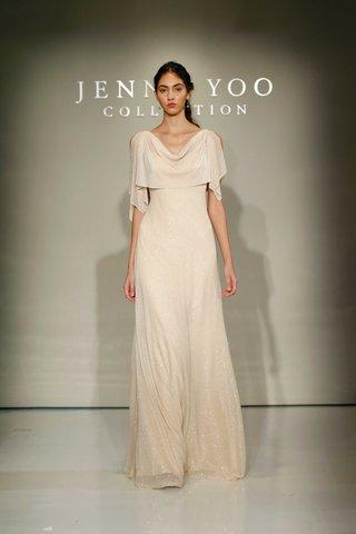 jenny-yoo-bridesmaids-2016-glitter-knit-ivory-bridesmaid-dress-with-shawl