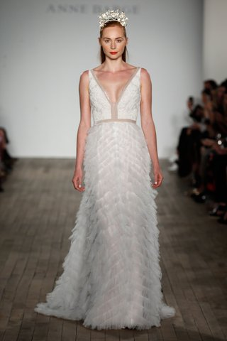 anne-barge-fall-2019-wedding-dress-bolta-v-neck-beaded-gown-with-texture-chevron-skirt-fit-and-flare