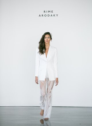 rime-arodaky-fall-2017-bridal-sheer-lace-pants-with-long-oversized-white-blazer-with-deep-v