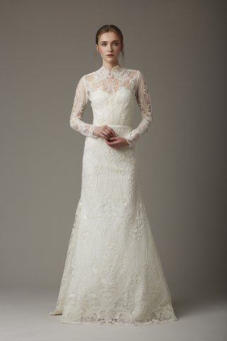 high-neck-embroidered-wedding-dress-with-lace-sleeves-and-neckline-by-lela-rose