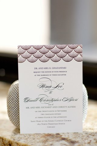ballroom-wedding-invitation-with-scallop-design-motif-at-top-and-calligraphy-names-gazanfari-alfieri