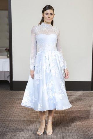 gracy-accad-fall-2018-blue-hand-embroidered-chiffon-top-silk-satin-organza-floral-tea-length-skirt
